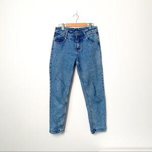 Flower Boyfriend Rigid Denim High Rise jeans